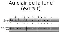 Au clair de la lune (extrait) à la guitare classique