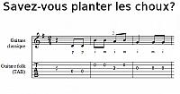 Savez-vous planter les choux? à la guitare classique