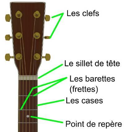 Anatomie de la guitare