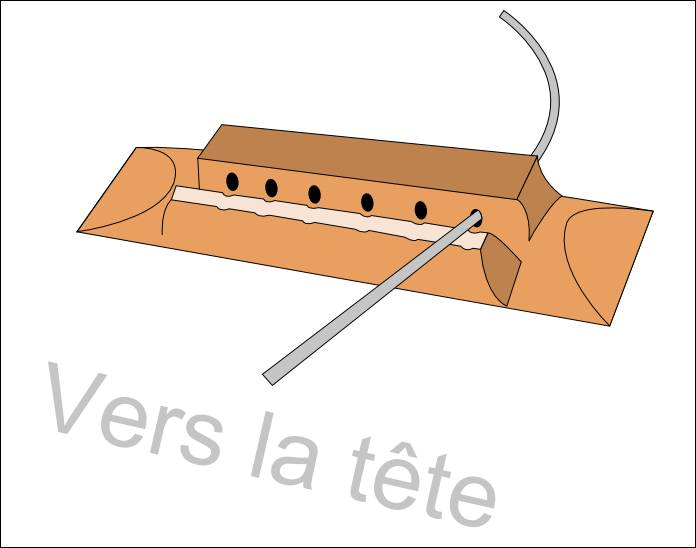 Changer les cordes grave en métal de la guitare