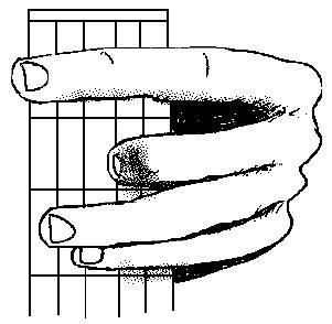 accord de Fa majeur à la guitare