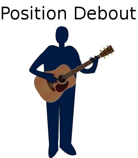 Position debout à la guitare