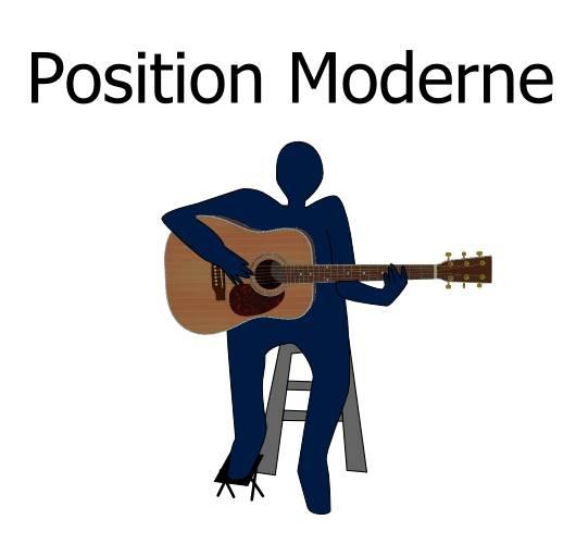 tenir sa guitare position moderne