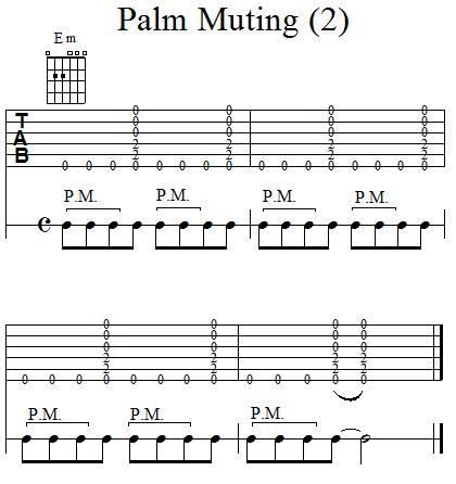 Accompagnement rythmique à la guitare - Palm Muting - 2