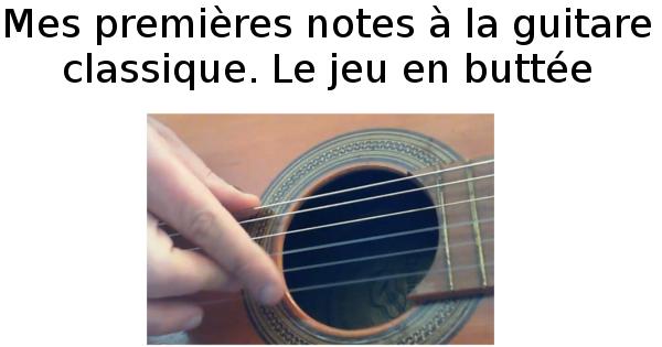 Mes premières notes à la guitare classique